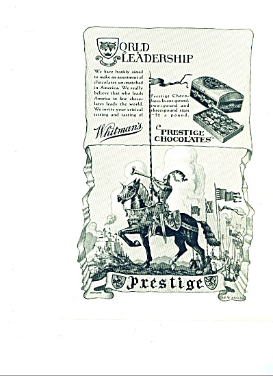 1930 -Whitman's prestige chocolates ad (Image1)