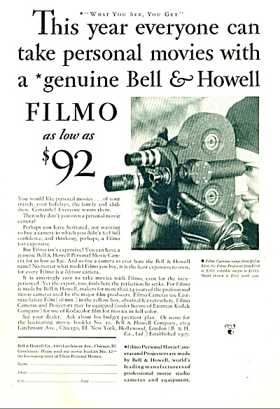 1931 -  Bell & Howell ad (Image1)