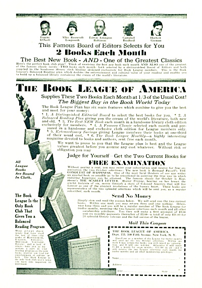 1930s - The Book league of America ad (Image1)