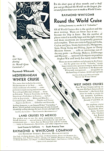 1930 -  Raymond & Whitcomb company ad (Image1)