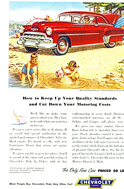 1952 - Chevrolet Deluxe in Regal Maroon ad (Image1)