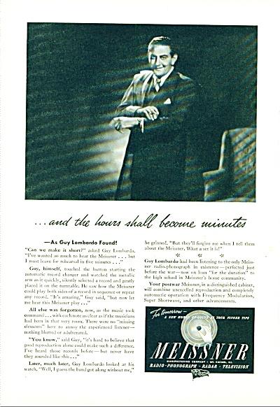 1945 -  Meissner radio - GUY LOMBARDO (Image1)