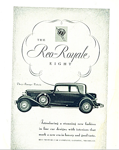 1931 -  The Reo-Royale eight auto ad (Image1)