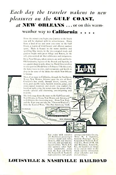 1931- Louisville & Nashville Railroad ad (Image1)