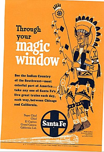 1952 =-Santa Fe railroad ad (Image1)