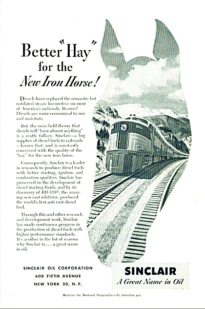 1952 - Sinclair - a great name in oil ad (Image1)