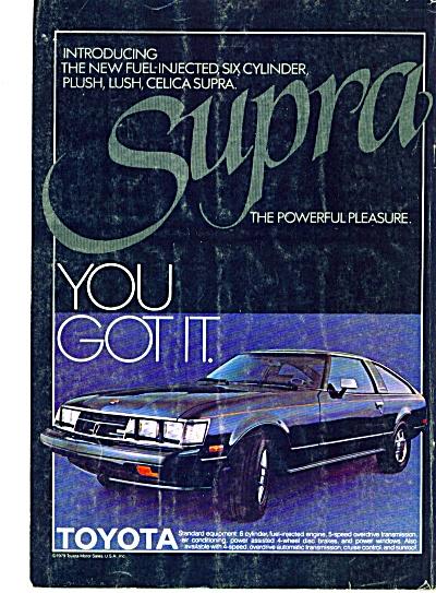 1979 - Toyota Supra automobile ad (Image1)