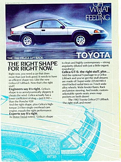 1982 - Toyota Celica liftback ad (Image1)