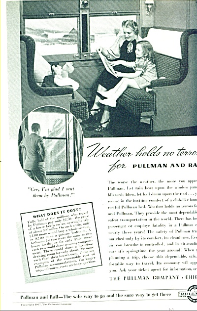1937 -  The Pullman company - Chicago ad (Image1)