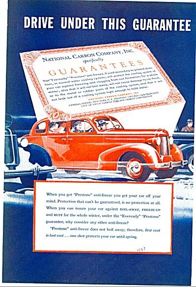 1937 - Prestone anti freeze ad (Image1)
