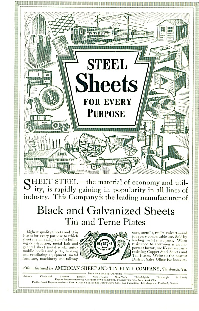 1927 - American sheet and tin plate company (Image1)