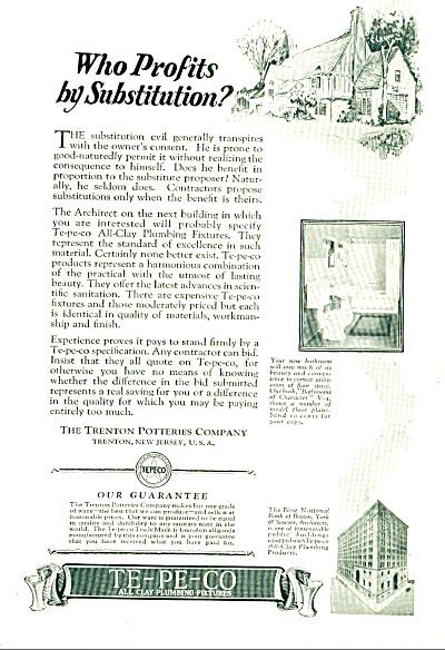 1927 - TE-PE.-CO plumbing fixtures ad (Image1)
