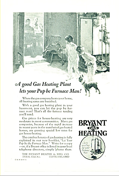 1927 - Bryant gas heating co. ad (Image1)