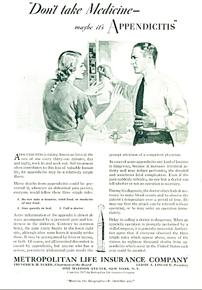 1937 - Metropolitan life insurance co. ad. (Image1)