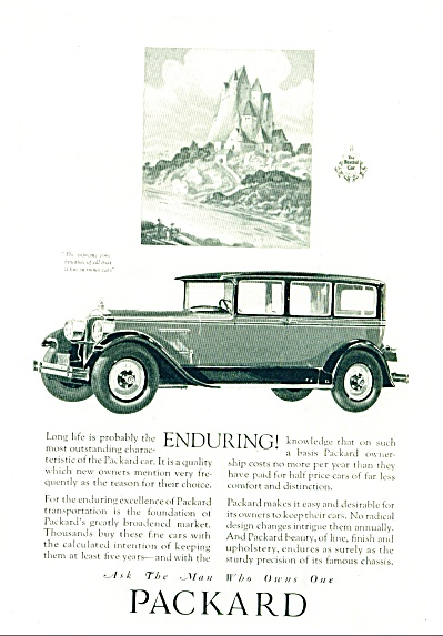 1927 - Packard Automobile Ad