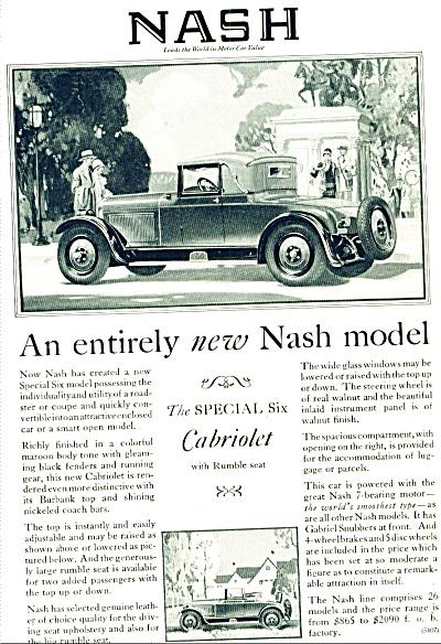 1927 - Nash Cabriolet automobile ad (Image1)