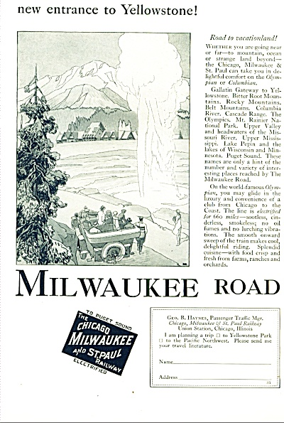 1927 -  Milwauikee road railway ad (Image1)