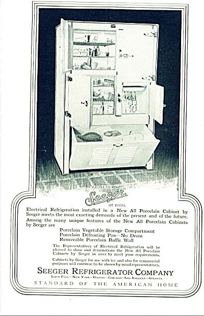 1927 - Seeger refrigerator company ad (Image1)