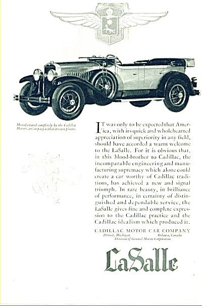 1927 - LaSalle automobile ad (Image1)