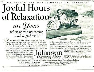 1927 -  Johnson outboard motors ad (Image1)