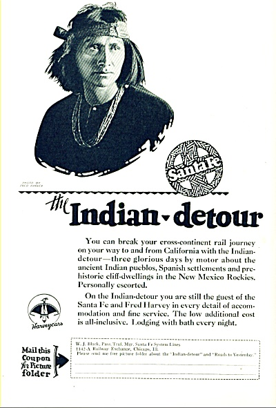 1927 -  Santa Fe railroad ad (Image1)