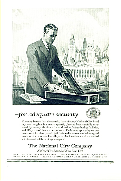 1927 -  The National city company ad (Image1)