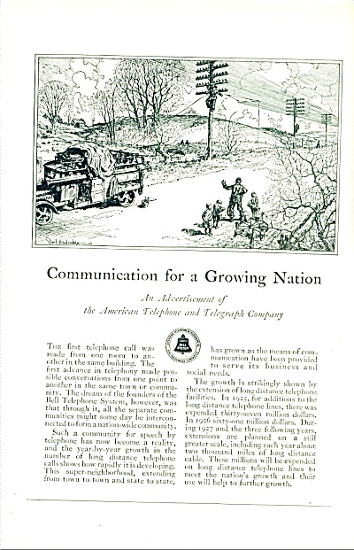1927 - Bell System Ad
