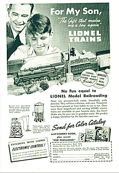 1946 - Lionel Trains Ad