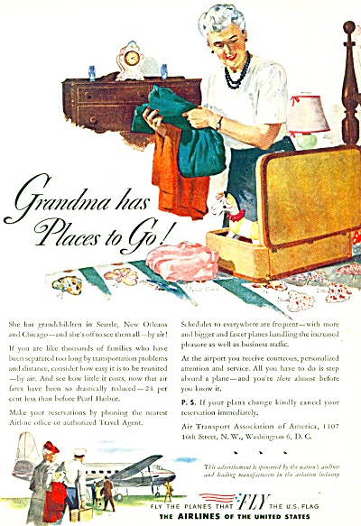 1946 = The airlines of the United States ad (Image1)