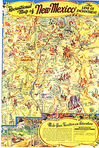 1946 -  Recreational map of New Mexico (Image1)