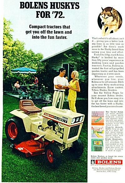 1972 - Bolens lawn tractors ad (Image1)