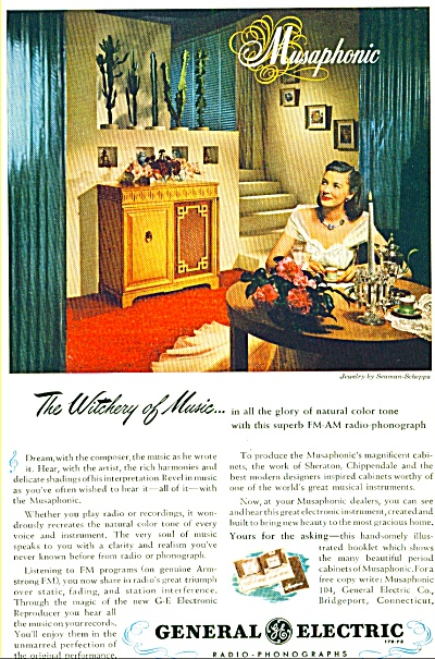 1947 - General Electric Radio Phonographs Ad