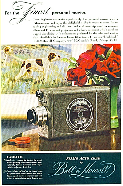 1947 - Bell & Howell filmo auto load ad (Image1)