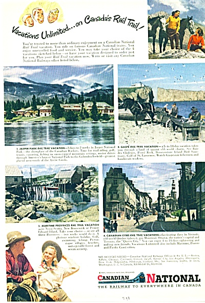 1947 -  Canadian national railway ad (Image1)