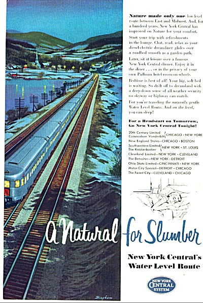 1954 - New York Central System Ad