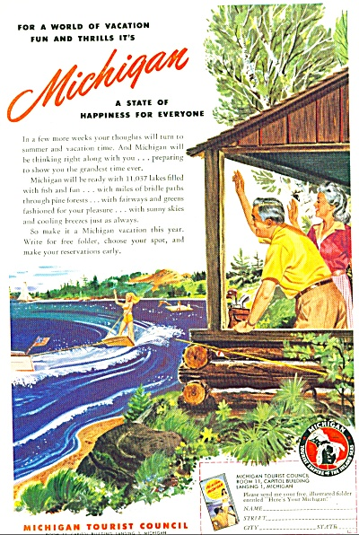 1947 -  Michigan tourist council ad (Image1)