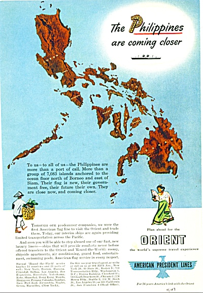 1947 - American President Lines Travel Ad