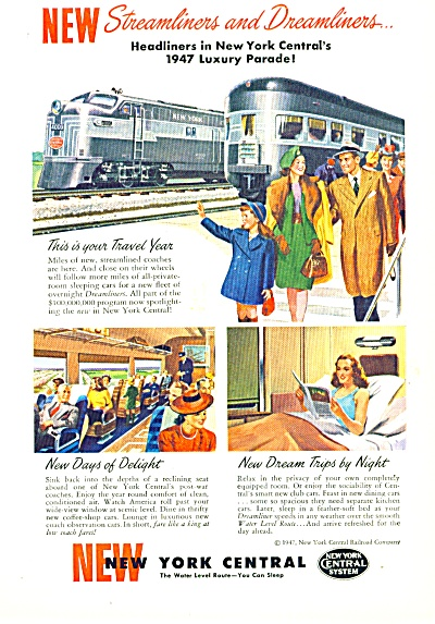 1947 - New York Central Ad