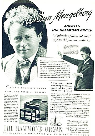 1937 -  The Hammond organ WILLIAM MENGELBERG (Image1)