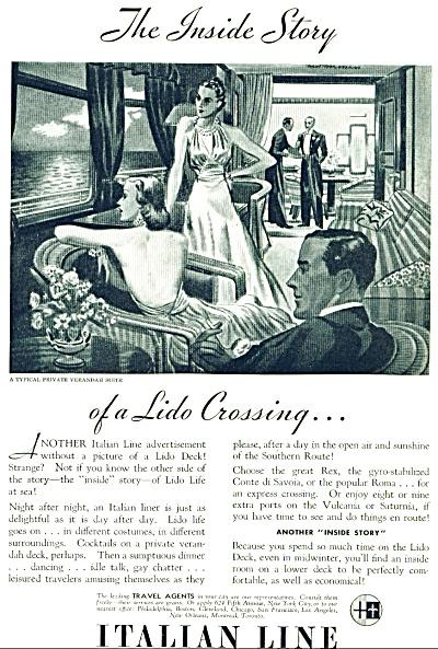 1937 - Italian Line travel ad (Image1)
