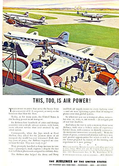 1943 - The Airlines of the United States ad (Image1)