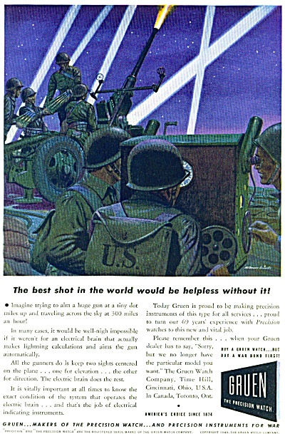 1943 - Gruen the precision watch ad (Image1)