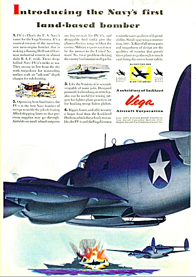 1943 - Vega aircraft corporation ad (Image1)