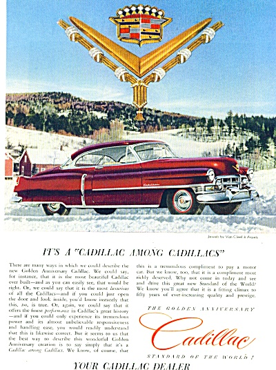 1952 - Cadillac automobile ad AWESOME JEWELS (Image1)