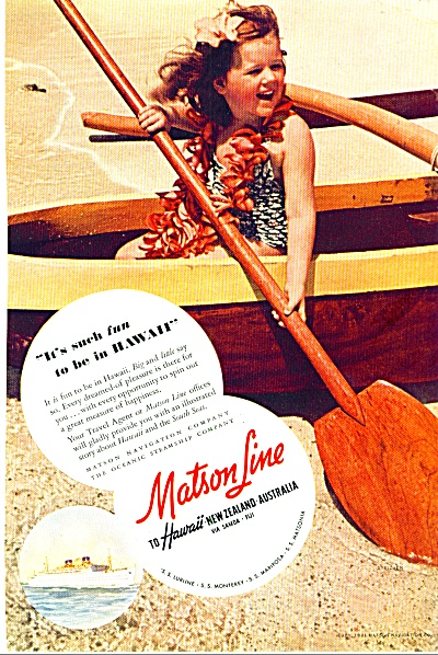 1964 - Matson Line to Hawaii ad (Image1)