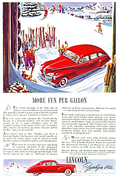 1941 -  Lincoln Zephyr V-12 auto ad (Image1)