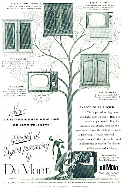 1952 - DuMont televisions ad (Image1)