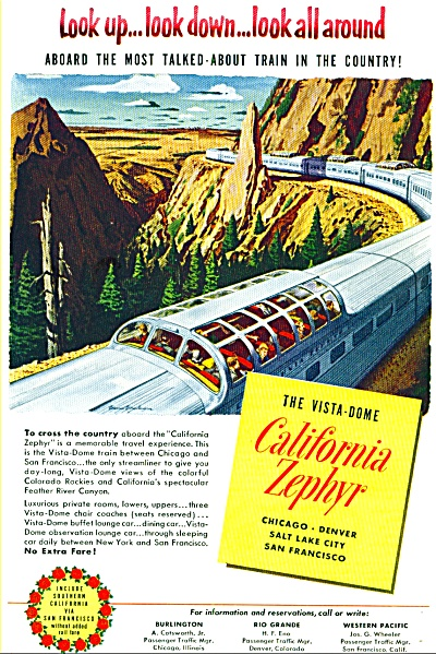 1952 - California Zephyr train ad (Image1)