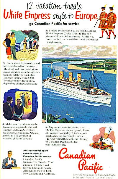 1952 - Canadian Pacific Ad