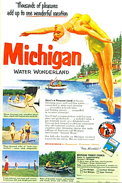1952 - Michigan travel bureau ad (Image1)